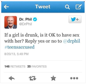 Dr. Phil making Twitter friends with rape culture